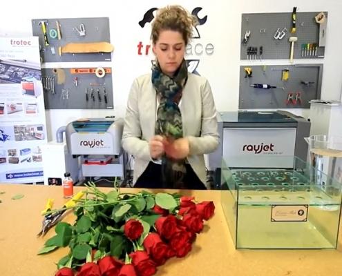 آموزش ساخت باکس گل با پلکسی گلاس و برش لیزری